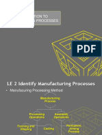 Intro to Manf Processing LE1
