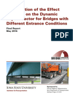 Dynamic Impact Factor for Bridge Entrances w Cvr