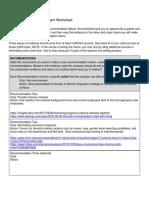 Evidence Claim Assessment Worksheet