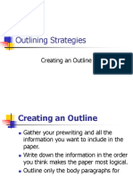 Outlining Strategies