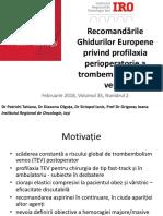 1. Profilaxia Perioperatorie a TEV