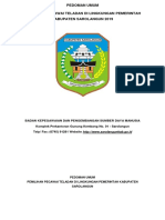 Buku Pedoman Umum Pegawai Teladan Tahun 2019