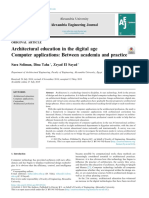 Architectural education in the digital ageComputer applications