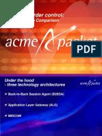 Acme SBC Architecture Comparison