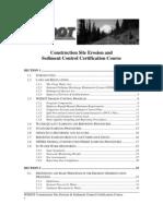 Erosion Training Manual