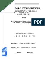 Cálculo de Las Intensidades de Precipitación en El Río Apatlaco (Cuenca Parcial)