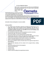 Job Description - Sr. Sales and Application Engineer - Oemeta