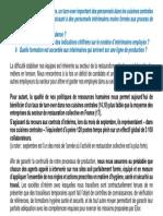 Réponse d'Elior à la cellule investigation de Radio France à propos du recours aux intérimaires