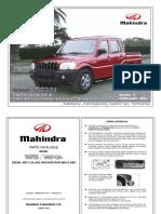 Catálogo de Partes Pik-up Mahindra Diesel Nef 2.5 Tdi (Sc Dc-2wd-4wd) (Non Abs & Abs) 2011 Febrero