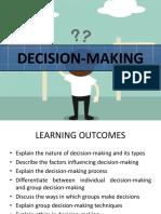 Decision Making Organisation Behaviour