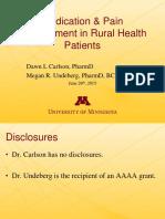 Medication Management and Pain Dawn Carlson