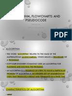 Lecture 0 Algorithm Flowchart Pseudocode