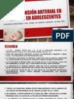DR JOSE MACEDO HIPERTENSIÓN ARTERIAL EN NIÑOS Y EN ADOLESCENTES.pptx
