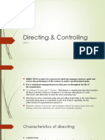 Directing & Controlling