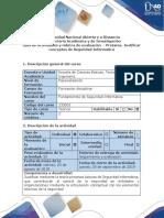Guía de actividades y rúbrica de evaluación – Pretarea – Justificar conceptos de Seguridad Informática