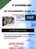9. Pelatihan Patient Counseling_Dr. Fita Rahmawati, SpFRS, Apt.pptx