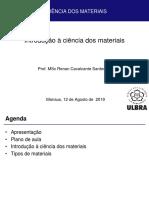 Aula 01 - Ciência dos materiais.pdf