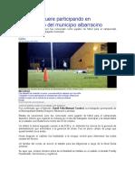Rabajador Muere Participando en Campeonato Del Municipio Albarracino
