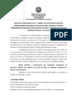 Aviso de Convocação OTT 2019 2020