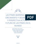 PYMES Barreras de Crecimiento y Perspectivas Actuales y a Futuro