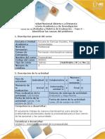 Guía de Actividades y Rúbrica de Evaluación - Fase 3- Identificar Las Causas Del Problema