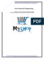 CSE-IT PHP MYSQL Project on Online Apparel Store - PDF Report with Source Code Free Download.docx