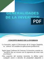 Presentacion Generalidades de La Inversion