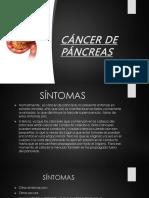 Cáncer de Páncreas Presentación