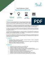 1. Temario_Seguridad Eléctrica NFPA 70E