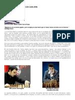 El Entrenamiento Segun Carlsen