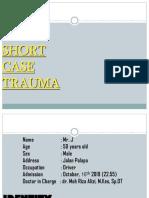 15-10-2019, Mr. Jamal, 50 yo, V.Laceratum Cruris Dextra + Skin loss + Fraktur Os Fibula , dr. Moh. Rizal Alizi, M.Kes, Sp. OT-1
