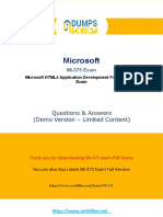 98-375 test questions free { pdf download }
