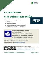 Tema 2. El Gobierno y La Administracion