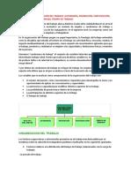 Factores de Organización Del Trabajo