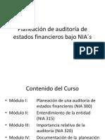 Planeación de auditoría de estados financieros en bases a NIA´s