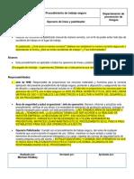 Procedimiento de Trabajo Seguro Palletizado Manual - OBSSERVACIONES