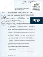Ley 30995 - Ley de Que Modifica La Legislación Electoral Sobre Inscripción, Afiliación, Comités Partidarios, Suspensión, Cancelación, Integración y Renuncia a Organizaciones Políticas – Lo Que Envió El Congreso