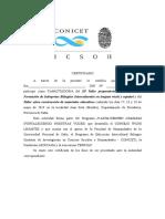 Certificado Capacitadores Taller Morillo Mayo 2019