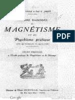 Histoire Raisonnee Du Magnetisma