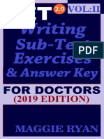OET Writing (With 10 Sample Letters) for Doctors by Maggie Ryan Updated OET 2.0, Book VOL. 2, 201--OET 2.0 Writing Books for Doctors by Maggie Ryan)