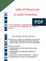 Gli indici di bilancio per le analisi finanziarie