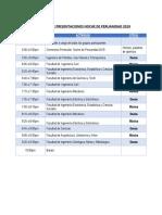 Cronograma noche de peruanidad 2019