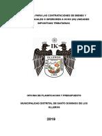 DIRECTIVA 001-2019 DIRECTIVA PARA LAS CONTRATACIONES DE BIENES Y SERVICIOS IGUALES O INFERIORES A OCHO (08) UNIDADES IMPOSITIVAS TRIBUTARIAS.doc