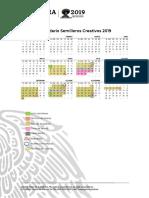 Calendario Semilleros Creativos 2019