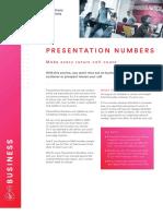 Presentation Numbers Datasheet