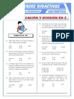 12Ejercicios de Multiplicación y División Para Primero de Secundaria