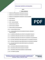 Indice de Planos Huilluca Umajuro y Challhuapuquio