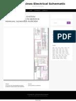 345b Electrical System Schematic Used in Service Manual Senr1925 Aurora _ Cat Machines Electrical Schematic