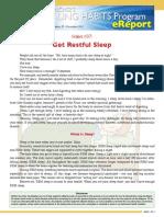00259 HealingHabit37 Get Restful Sleep