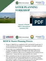 Master Planning Workshop Results Draft